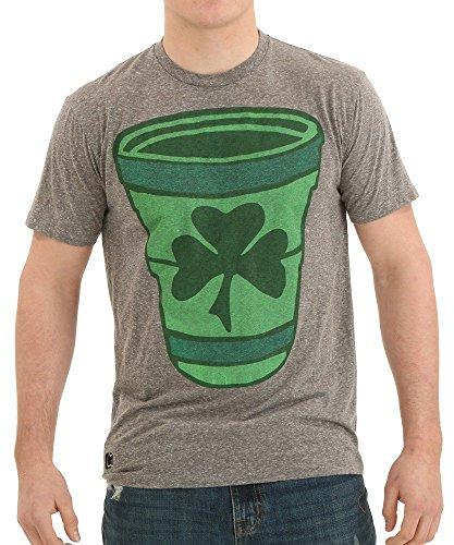 Jumbo Green Shamrock Cup Bottle Opener T-Shirt Large