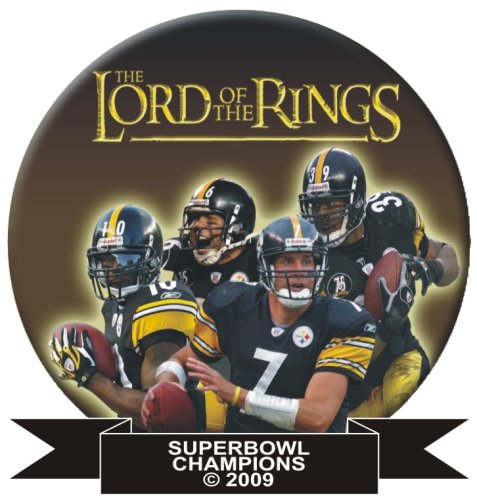 "Pittsburgh Steeler Superbowl Button Pins ""Lord of the Rings"" at Amazon.com"