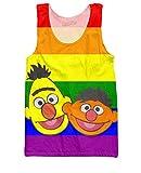 RageOn Men's Bert And Ernie Tank Top MD Multi