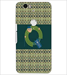 PrintDhaba GRANDbet Q D-4648 Back Case Cover for HUAWEI NEXUS 6P (Multi-Coloured)