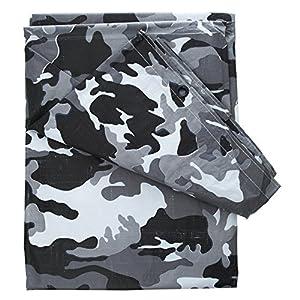 Bache De Terrain Camouflage Camo Urban Noir Gris Blanc 400 X 300 Cm Fosco 319601 Airsoft Tapis De Sol Tente