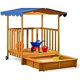 Bac à sable bois avec Couvercle en décoration cabane de jardin Jeux enfants