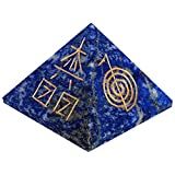 The Crystal Jewel Reiki Symbol Carved On Lapiz Lazuli Pyramid