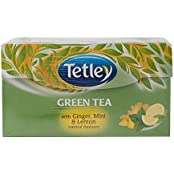 Tetley Green Tea, Ginger Mint And Lemon, 30 Tea Bags
