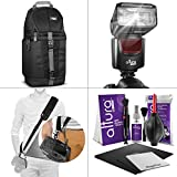 Altura Photo DSLR Accessory Bundle w Universal Flash - Neck Strap - Sling Bag and Cleaning Kit