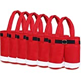 Warm-life Set of 6 Santa Pants Gift&treat Bag Christmas Candy Bag