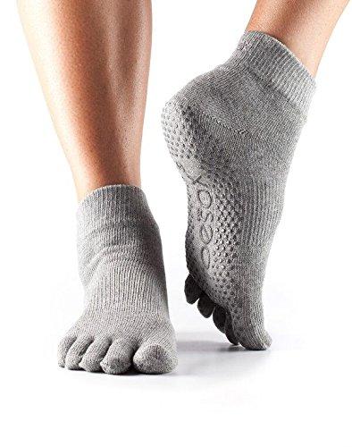 ToeSox Toe Ankle Socks - Heather Grey, Medium