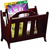 Coaster Magazine Rack, Cherry