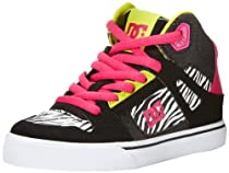 DC Footwear Kids Spartan High SE Skate Sneaker (Little Kid/Big Kid),Black Stripe,2.5 M US Little Kid