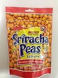 Hapi Snacks - Spicy Sriracha Peas - Chili Garlic Coated Green Peas 4.23 Oz (Pack of 3)