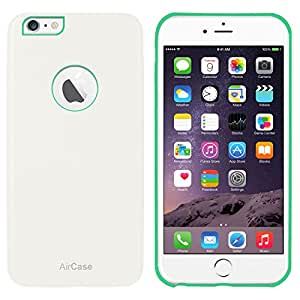 AirCase iPhone 6s Plus/ 6 Plus Leather Feel 1mm Slim Back Case/Cover with Apple Cut Out (White)
