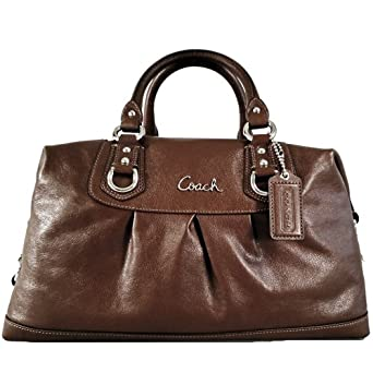 Coach Large Leather Ashley Sabrina Satchel Duffle Bag Purse Tote 15447 Walnut