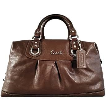 Coach Large Leather Ashley Sabrina Satchel Duffle Bag Purse Tote 15447 Walnut