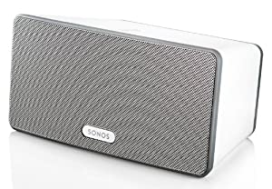 Sonos Play:3 All-in-one-Player (wireless, kabellose Steuerung, steuerbar mit iPhone, iPad, iPod, Kindle, Android) weiß