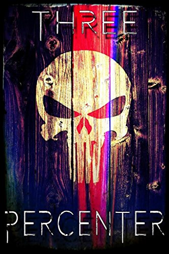 Three Percenter Punisher Skull Poster | 18-Inch By 12-Inch | JSC113 (License Plate Frame Motivational compare prices)