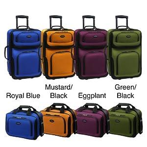 U.S. Traveler Rio 2 pc Expandable Carry-On Luggage Set - Green