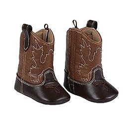 Mud Pie Baby Boys Brown Cowboy Boots (0-6 Months)