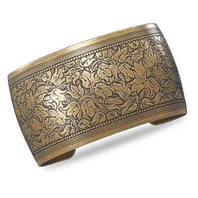 Brass Wide Cuff Fashion Bracelet Ethnic Design