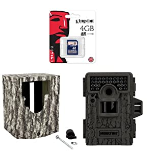 MOULTRIE Game Spy M-880 Low Glow Infrared Trail Camera + Security Box + SD Card by Moultrie