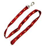 Iconic Pet Paw Print Leash, Medium, Red