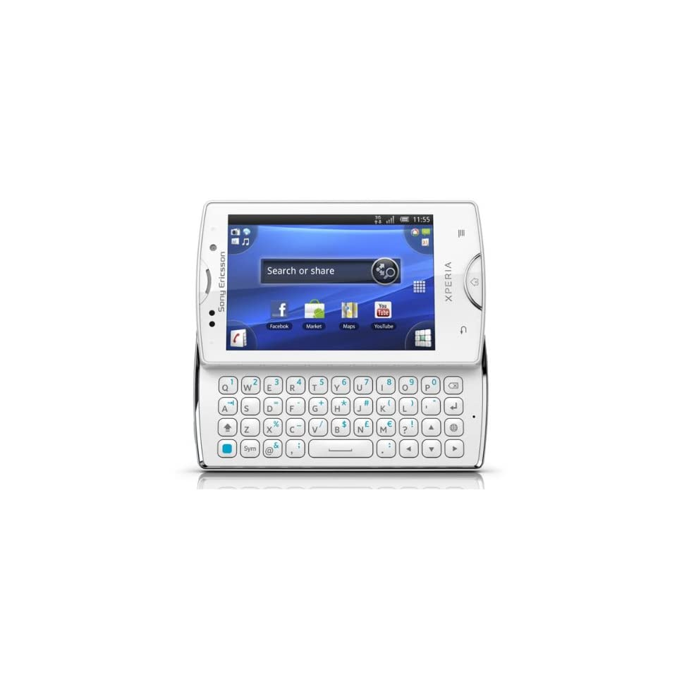 Sony Ericsson SK17A WH Xperia Mini Pro SK17a Unlocked Android Smartphone with 5MP camera, Touchscreen and Slide Out QWERTY Keyboard   Unlocked Phone   US Warranty   White Cell Phones & Accessories