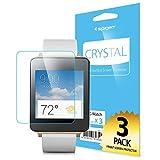 LG G ウォッチ Spigen®  液晶 保護 フィルム 3枚入り  [高い 透明度] G Watch [国内正規品] (クリスタル・クリア)