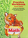 Harcourt Math: Practice Workbook, Grade 5, Teacher Edition