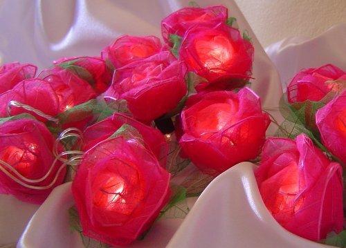 Storm Trading Co Ltd Pink Rose Battery Powered Led Fairy Light String