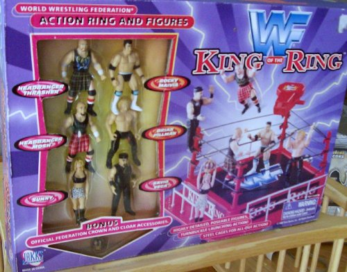 Buy Low Price Jakks Pacific WWF KING OF THE RING ACTION RING AND FIGURES (B002IH8JJ2)