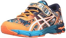 ASICS Gel-Noosa Tri 11 PS Running Shoe Little Kid, Hot Orange/White/Dark Navy, 1 M US Little Kid