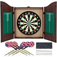 Gameroom Dartboard Cabinet Set