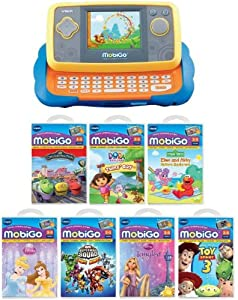 Vtech MobiGo Touch Learning System Bundled with All Age Group 3-5 Games