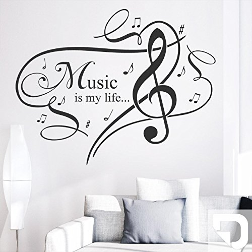 DESIGNSCAPE-Wandtattoo-Music-is-my-life