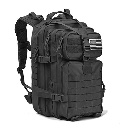 Military Tactical Assault Pack Backpack Army Molle Waterproof Bug Out Bag Backpacks Small Rucksack for Outdoor Hiking Camping Trekking Hunting Black