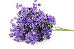 Admired by Nature AJ331-PURPLE Artificial Full Blooming Baby Breath Flowers Spray44; Purple