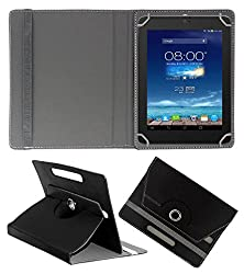 ACM ROTATING 360° LEATHER FLIP CASE FOR DIGIFLIP PRO XT801 TABLET STAND COVER HOLDER BLACK