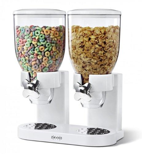 zevro-doppio-distributore-di-cibo-cereali-in-plastica-colore-bianco-trasparente