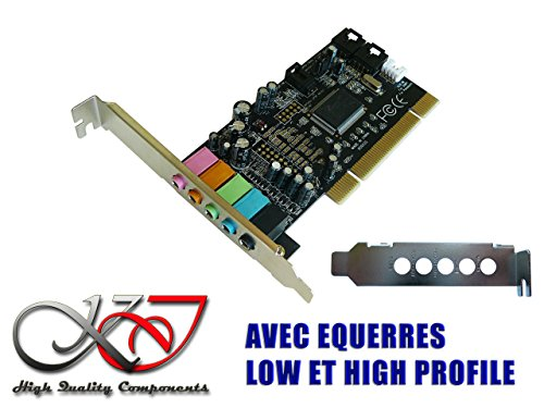 KALEA-INFORMATIQUE © -Carte Son PCI- Dolby 5.1 - EQUERRES LOW ET HIGH PROFILE FOURNIESSTA, SEVEN, 8, 8.1, 10 - Linux - Dos