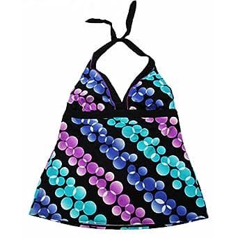 Nike Swimwear Women's Halter Tankini Top Size 8 - Bubbles