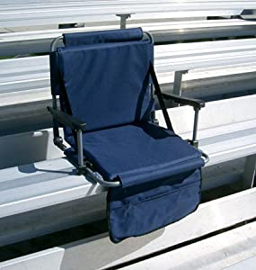 As Seen On Tv The Original Stadium Master Portable Folding Cushioned Stadium Bench Seat by World Outdoor Products, Inc.