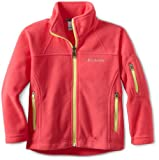 Columbia Girls 7-16 Fast Trek Fleece Full Zip Jacket, Afterglow, 10/12