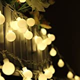 100 LED 33ft 10m Globe String Lights Warm White Ball Fairy Light for Garden Party Christmas Wedding New Year Indoor Decoration