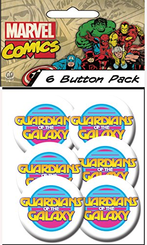 "C&D Visionary Marvel Guardians of The Galaxy Retro Logo 1.25"" Button (6-Piece)"
