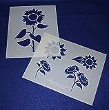 Sunflower Stencils Mylar 2 Pieces of 14 Mil 8