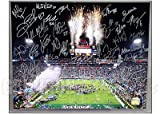 Patriots 2004 Team Signed Super Bowl 39 16x20 Celebration Photo
