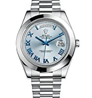 Rolex Day-date Ii 2 President Platinum Watch Ice Blue Dial 218206 Box/papers 2014 by Rolex