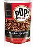 Pop Gourmet Infused Chocolate Caramel Handcrafted Popcorn with Sea Salt, 7-oz Bags (Pack of 4)