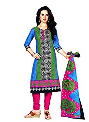 New Summer Collection Women's Cotton Unstitched Dress material (FE0008_Multi-coloured)