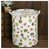Yiuswoy Stoff Wäschesammler Wäschebehälter Wäschetonne Wäschetruhe Cotton Line Aufbewahrungskorb Kinder