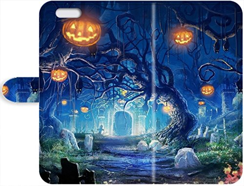 Pop Culture Cute Phone Leather Cases Halloween Wallpaper iPhone 7 (Cute Halloween Wallpaper Iphone)